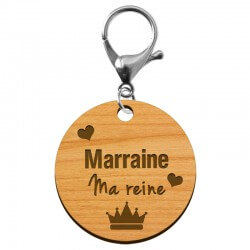 "Porte-clé annonce Marraine ""Marraine ma Reine"" à personnaliser - macreationperso"