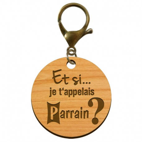 """Porte-clé annonce Parrain """"Et si je t'appelais Parrain?"""" à personnaliser - macreationperso"""