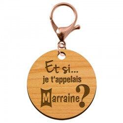 """Porte-clé annonce Marraine """"Et si je t'appelais Marraine?"""" à personnaliser - macreationperso"""