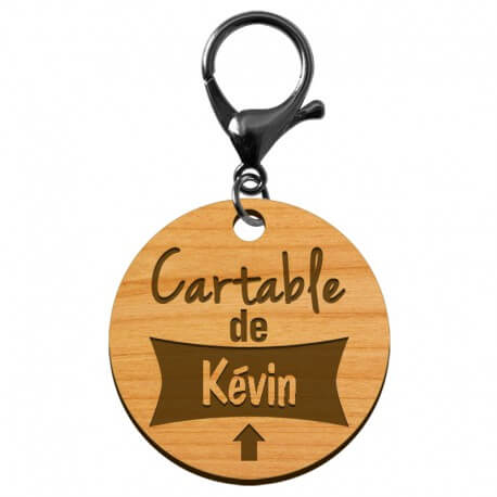 "Porte-clé d'identification ""Cartable de..."" à personnaliser - macreationperso"