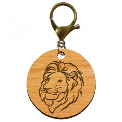 Porte-clé Lion en bois à personnaliser - macreationperso
