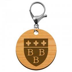 Porte-clé Blason ville de Trèbes 3B en bois à personnaliser - macreationperso