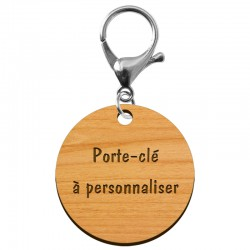 Porte-clé personnalisé en bois - 50mm - macreationperso