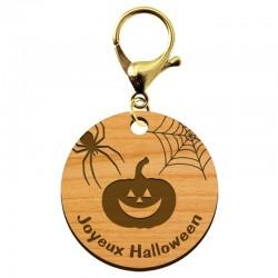 """Porte-clé Halloween personnalisé en bois """"Joyeux Halloween"""" - ma creation perso"""