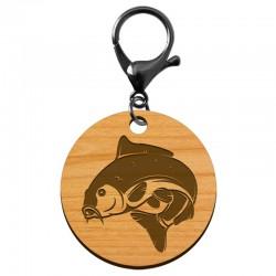 """Porte-clé Carpe """"Poisson Carpe"""" en bois à personnaliser - macreationperso"""