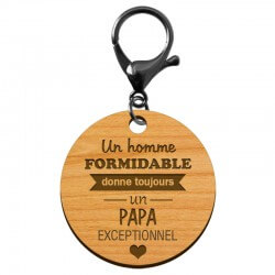 """Porte-clé PAPA personnalisé  """"Un homme formidable donne un PAPA exceptionnel"""" - macreationperso"""