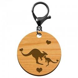 Porte-clé Kangourou en bois à personnaliser - macreationperso