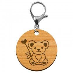 """Porte-clé Koala """"Notre soutiens pour l'Australie"""" en bois à personnaliser - macreationperso"""