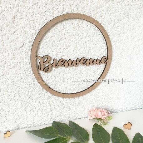 Prénom decoupé cercle en bois personnalisé - Prénom dans un rond en bois - macreationperso