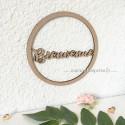 Couronne Prénom découpé cercle en bois personnalisé - Un ou deux Prénoms découpés - macreationperso