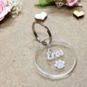 Petite médaille gravée ronde transparente à personnaliser 20 mm