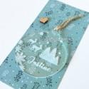 Boule de Noël à personnaliser thème sapin, flocon et renne de noël - ma creation perso