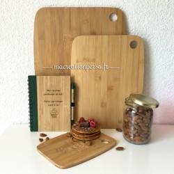 Planche à découper personnalisée en bambou gravé - 3 tailles différentes - Grande moyenne et petite planche apéro