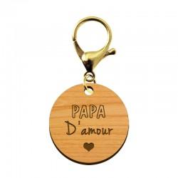 Porte-clé en bois - Papa d'amour