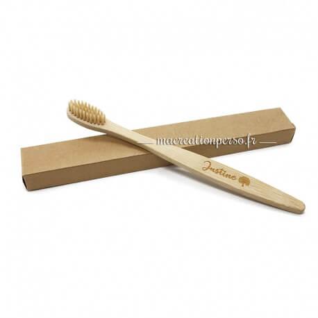 Brosse à dent en Bambou personnalisée recyclable