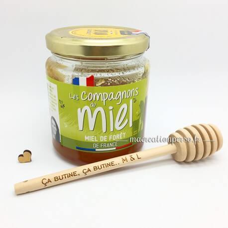 Cuillère à Miel gravée et personnalisée en bois - 15 cm - ma creation perso