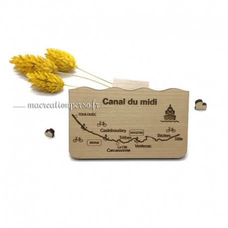 Magnet Cité de Carcassonne en bois mode dessin