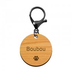 Médaille pour animaux en bois de chêne