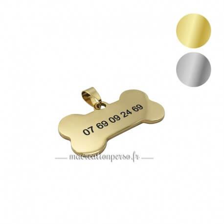 Médaille os en métal 50 x 28 mm - Macreationperso