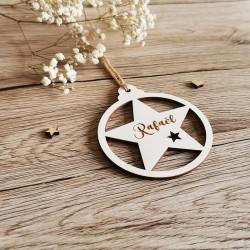 Boule de Noël étoile découpée à personnaliser  - PLUSIEURS COLORIS macreationperso