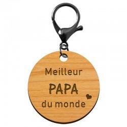 Porte-clé personnalisé - Meilleur papa du monde - 40 mm | macreationperso