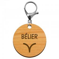 Porte-clé personnalisé signe astrologique Bélier - macreationperso