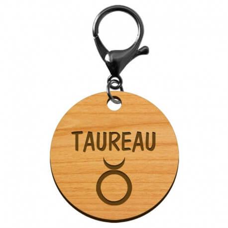 Porte-clé personnalisé signe astrologique Taureau - macreationperso