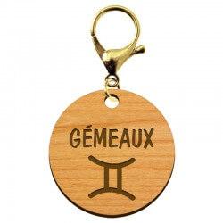 Porte-clé personnalisé signe astrologique Gémeaux - macreationperso