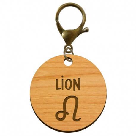 Porte-clé personnalisé signe astrologique Lion - macreationperso