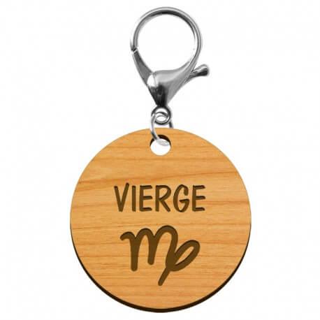 Porte-clé personnalisé signe astrologique Vierge - macreationperso
