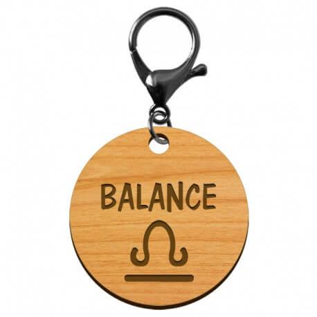 Porte-clé personnalisé signe astrologique Balance - macreationperso