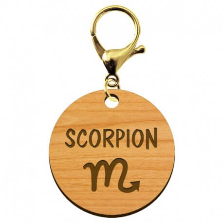 Porte-clé personnalisé signe astrologique Scorpion - macreationperso