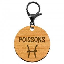 Porte-clé personnalisé signe astrologique Poissons - macreationperso
