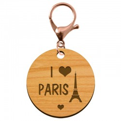"Porte-clé personnalisé ""I love PARIS"" - macreationperso"