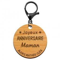 """Porte-clé """"Joyeux anniversaire Maman"""" prénoms à personnaliser - macreationperso"""
