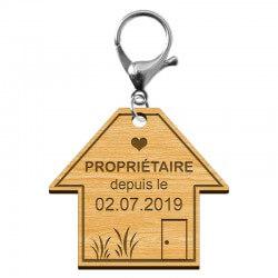 """Porte-clé """"Proriétaire depuis le..."""" - macreationperso"""