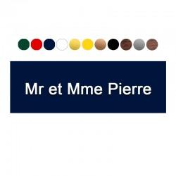 Plaque de boite aux lettres - 6 x 2 cm - macreationperso