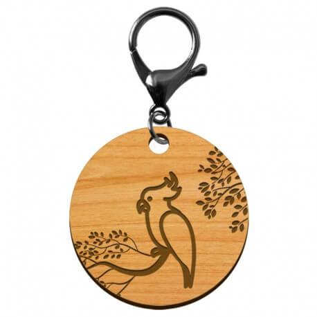 Porte-clé Perroquet artisanal en bois à personnaliser - macreationperso