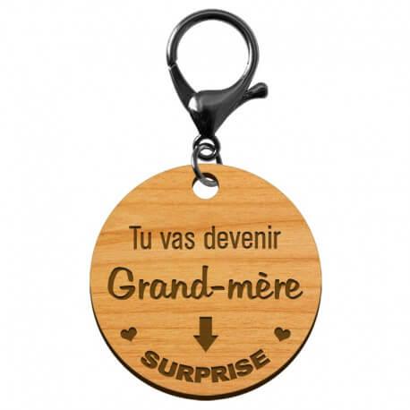 "Porte-clé Mamie ""Tu vas devenir Grand-Mère"" à personnaliser - macreationperso"