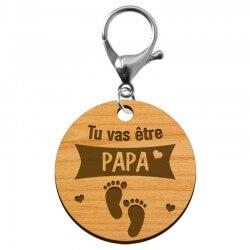 """Porte-clé annonce Papa """"Tu vas devenir PAPA"""" à personnaliser - macreationperso"""
