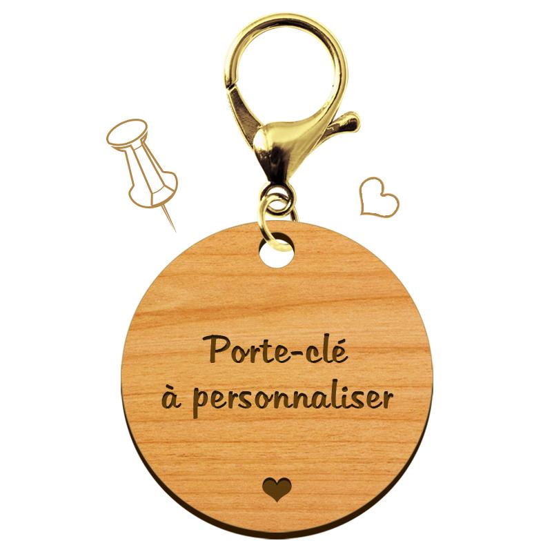 Porte-clé personnalisé coeur