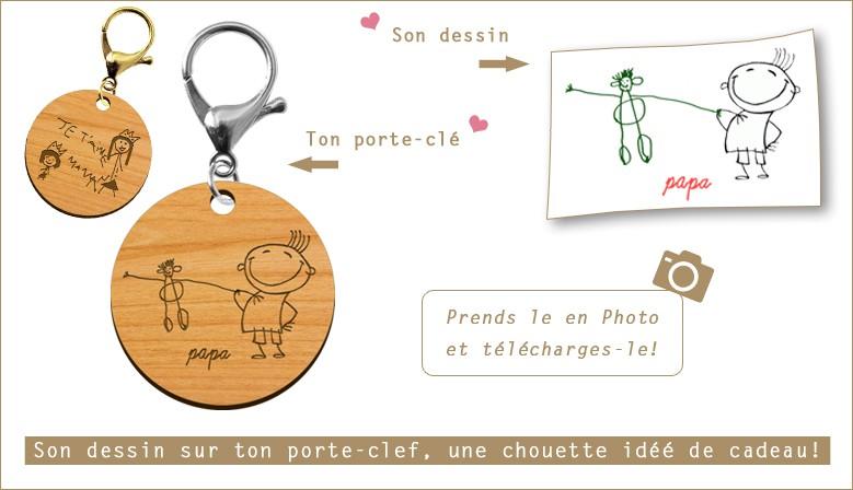 Porte-clé personnalisé dessin