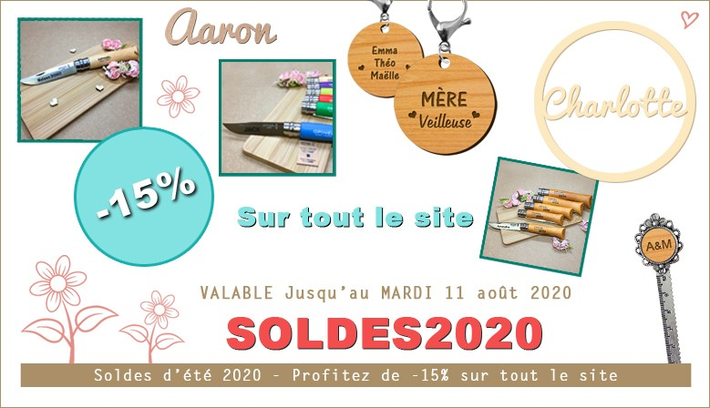 ♥ Code PROMO ♥ SOLDES2020 qui vous donne droit à -15% sur la totalité de vos produits macreationperso.fr
